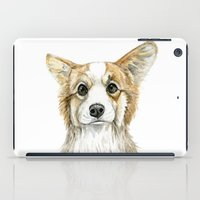corgi iPad Cases featuring Corgi by Leanne Engel