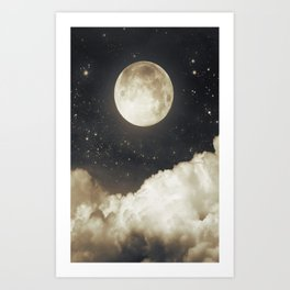 Touch of the moon I Art Print
