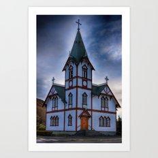 Husavik Church Iceland Art Print