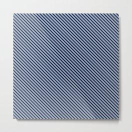 Serenity and Black Stripe Metal Print