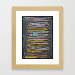 Not Whaling / Imperfect Lines Framed Art Print