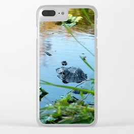 Mama & Baby Gator Clear iPhone Case
