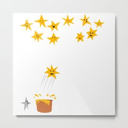 Jumping star Metal Print