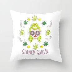 Stoner Babe Throw Pillow