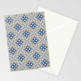 Origami Paper Flowers on Grey Background Stationery Cards