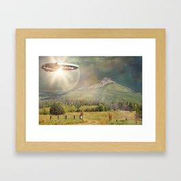 Space Mountain Framed Art Print