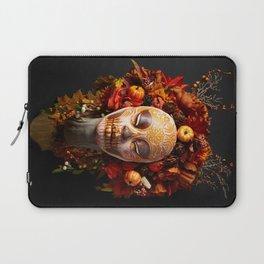 Pumpkin Harvest Muertita Laptop Sleeve
