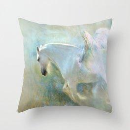 Angelic Horse Throw Pillow