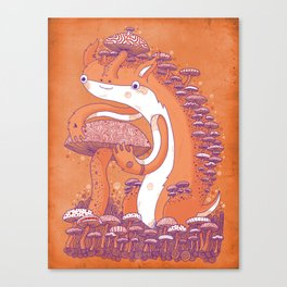 The Mushroom collector Canvas Print