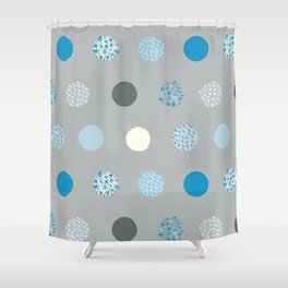floral dots Shower Curtain