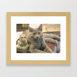 Hodge and Gargoyle Framed Art Print