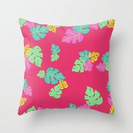 Baesic Tropic Leaves Throw Pillow