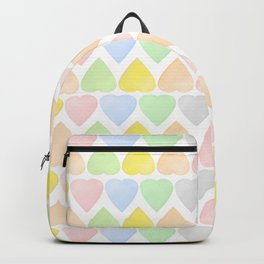 Candy Hearts Pattern Backpack