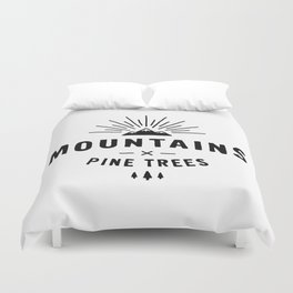 Mountains & Pine trees Duvet Cover