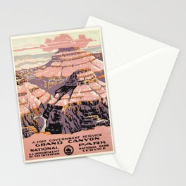 WPA vintage Travel poster - Grand Canyon - National Park Service Stationery Cards