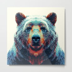 Bear - Colorful Animals Metal Print