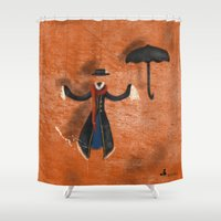 mary poppins Shower Curtains featuring Mary Poppins by fedralita