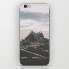 Whidbey Beach Fort iPhone Skin