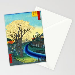 Cherry Blossoms on the Tama River Stationery Cards