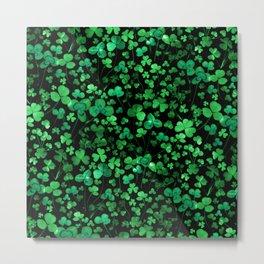 Evening Green Shamrocks Metal Print