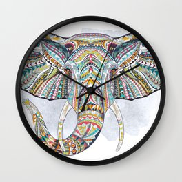 Colorful Ethnic Elephant Wall Clock