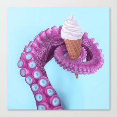 OCTOPUS ICE CREAM Canvas Print