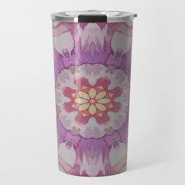 Soft Lavender Floral Kaleioscope Travel Mug