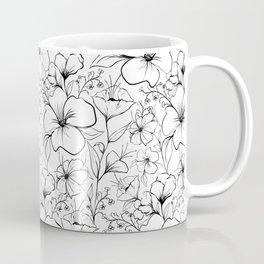 Floral sketch pattern Coffee Mug
