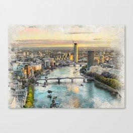 London city art 2 #london #city Canvas Print