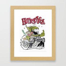 Hot Rod Yoda Framed Art Print