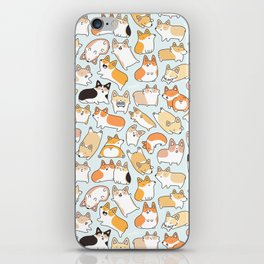 Corgilicious Corgi Doodle iPhone Skin