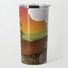 Jack and the Beanstalk Cottage in the evening Travel Mug
