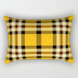 Argyle Fabric Plaid Pattern Autumn Colors Yellow and Black Rectangular Pillow