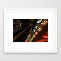 las vegas Framed Art Prints featuring Las Vegas by David Cantatore