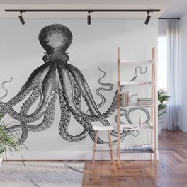 Octopus | Black and White Wall Mural