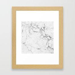 Marble Bianco Framed Art Print