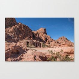 Sandstone Cabins Canvas Print