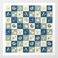 nautical Art Prints featuring Nautical  by Julscela