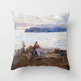 Arthur Streeton - Sydney Harbour From Penshurst, Cremorne - Digital Remastered Edition Throw Pillow