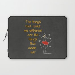 Colored Chalk Yellow Red White on Chalkboard Different quote Nursery Laptop Sleeve