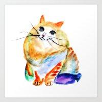 Cat I Art Print