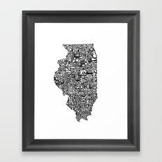 Typographic Illinois Framed Art Print