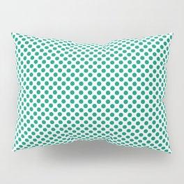 Emerald Polka Dots Pillow Sham