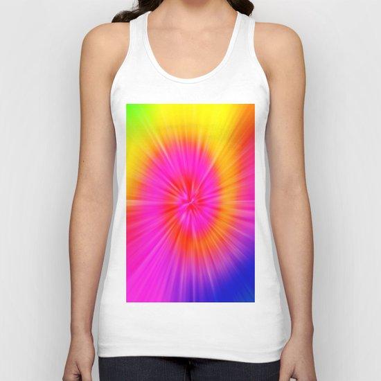 TIE DYE #1 (Rainbow Colors) Unisex Tank Top