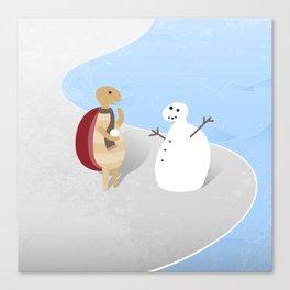Snowturtle Canvas Print