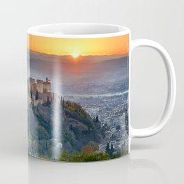 Red sunset at The Alhambra Palace Coffee Mug
