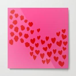 KisseS and HeartS Metal Print