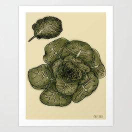 Collard Greens Art Print
