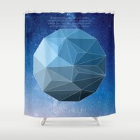 physics Shower Curtains featuring Continuum Space by yuvalaltman