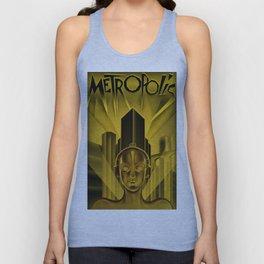 "Vintage 1927 ""Metropolis"" Movie Lithograph Advertisement Poster Unisex Tank Top"
